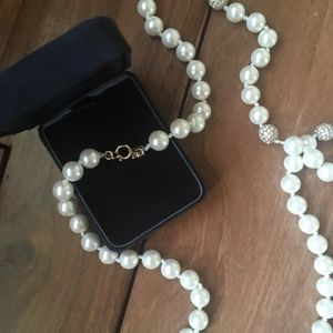 BANANA REPUBLIC Long Pearl Necklace (new!)